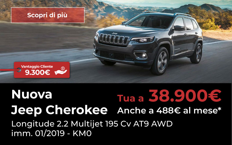 jeep cherokee km 0