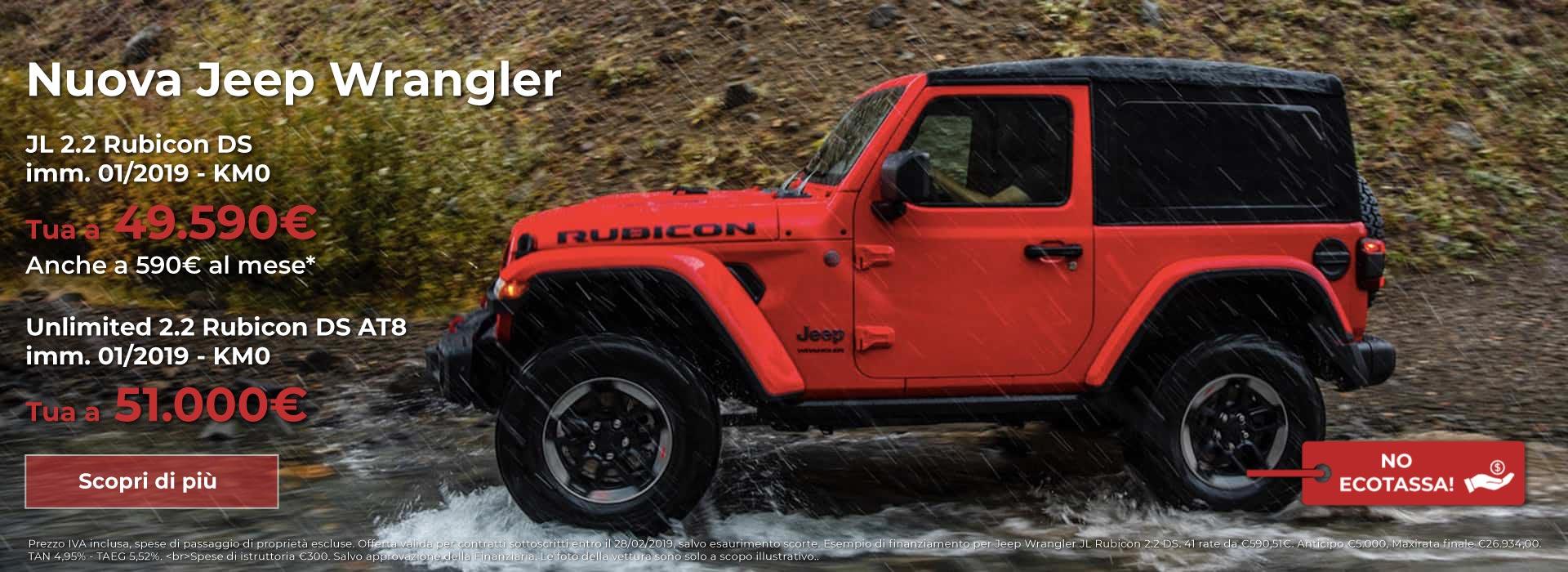 jeep wrangler km 0